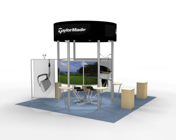 Exhibition Booth Accessories : Display search reo island w workstations rental
