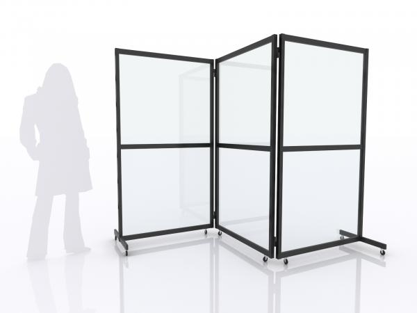 MOD-8055 Folding Safety Dividers -- Black Powder-coated Finish