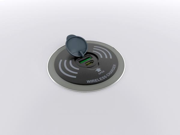 Wireless Charging Pad with USB A and C Ports -- Open
