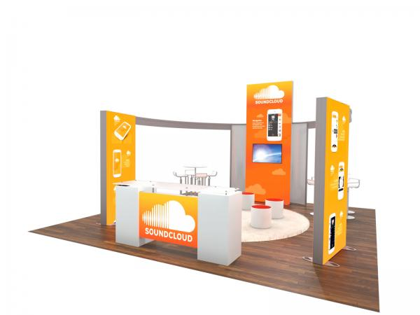 ECO-4094 Sustainable Trade Show Display -- 20 x 20 Version