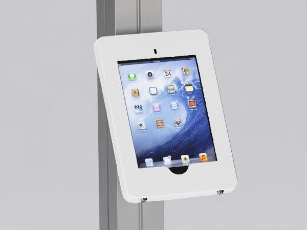 MOD-1317 Locking iPad Clamshell with Extrusion Attachment -- White