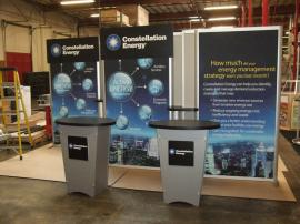 SEGUE Inline Exhibit with Lightboxes and Counters. Converts to 10 x 10 Display -- Image 1