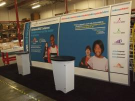 VK-2091 Magellan Miracle Hybrid Display with Tension Fabric Graphics and LTK-1001 Modular Counters --Image 1