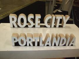 Custom CNC Cut Letters for Retail Application -- Image 1