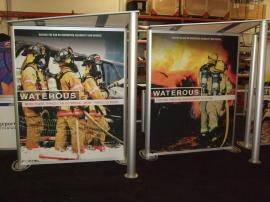 Two-sided Custom SEGUE Lightboxes with Canopies and Tension Fabric Graphics -- Image 1