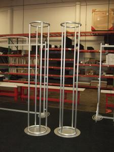"(2) 18"" Diameter x 8 ft. Aero Towers (shown without fabric graphics)"