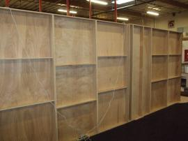 Custom Fabricated Wood Construction with Large SEG Backlit Graphic, Direct Print Graphic,  and Storage Closet -- Image 5