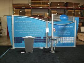 VK-2059 Visionary Designs Hybrid Exhibit with Tension Fabric Graphics and LTK-1001 Modular Pedestal -- Image 1