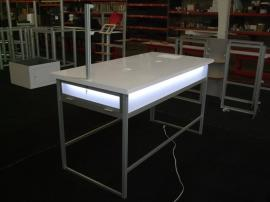 Modular Display Table with Wire Management and Vertical Flag for Signage