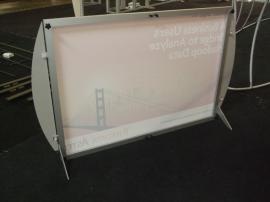 VK-1851 SEGUE Sunrise Table Top Display with Silicone Edge Fabric Graphics -- Image 2