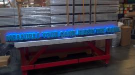 CNC Lettering with Embedded LED Lighting for a Retail Storefront Project -- Image 2
