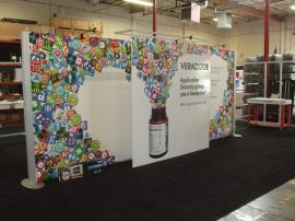 Custom Visionary Designs Inline Display with Tension Fabric and Direct Print Graphics -- Image 1