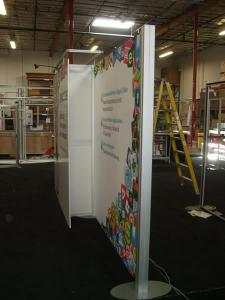 Custom Visionary Designs Inline Display with Tension Fabric and Direct Print Graphics -- Image 3