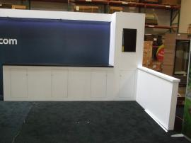 Custom Modular Exhibit with Direct Print Graphics, LED Header Lights, and Storage. Converts to 10 x 10 -- Image 2
