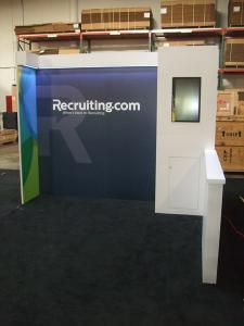 Custom Modular Exhibit with Direct Print Graphics, LED Header Lights, and Storage. Converts to 10 x 10 -- Image 3