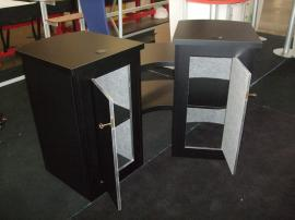 Modified LT-111 Modular Counter with Additional Shelves and Locking Storage -- Image 2