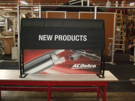 TF-404 Aero Table Top Portable Display with Tension Fabric Graphics -- Image 1