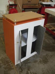 LTK-1121 Modular Counter with Plex Top and Locking Storage -- Image 2