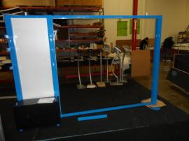 Visionary Designs Custom Hybrid Display Powder-coated Blue (shown without graphics) -- Image 1