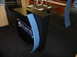 eSmart Customized ECO-1010 with Floating Graphics and Custom Kiosk.  Includes an ECO-8C Podium with a Customized Aero Frame Accent -- Image 3