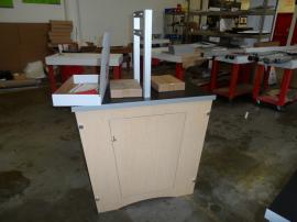 Custom Modular Double-side Workstation with Locking Storage -- Image 1