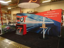 Custom SEGUE Inline Exhibit with Silicone Edge Graphics, Modular Laminate Counter, and MOD-1134 Workstation -- Image 1