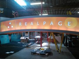 Custom Backlit Hanging Arch. Wood Construction -- Image 2