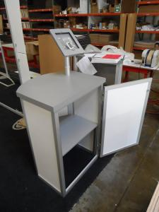 MOD-1267 Modular Counter with Storage and MOD-1329 Rotating iPad Mount -- Image 2