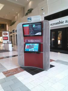 Three-sided Wayfinder Kiosk Built for an Upscale Mall -- Image 1