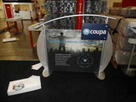 ECO-105T Hybrid Table Top with Tension Fabric Graphics