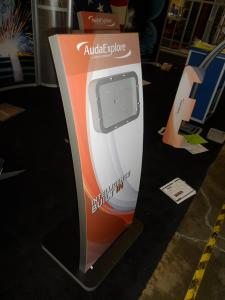 (2) MOD-1363 iPad Kiosk Stands with Tension Fabric Graphics -- Image 2