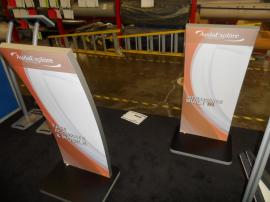 (2) MOD-1363 iPad Kiosk Stands with Tension Fabric Graphics -- Image 3