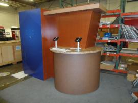 Custom Re-configurable Inline with Reception Counter, Bar Counter, iPad Mounts, and Tension Fabric Graphics -- Image 3