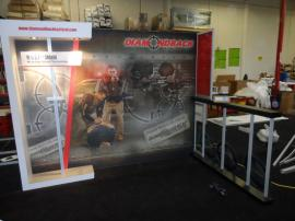 Custom SEGUE Hybrid Display with Large Format Graphics and Custom Counter with Locking Storage -- Image 1