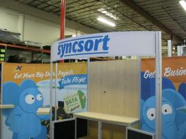 Customized eSmart ECO-2003 with Fabric Graphics, Large Header, and Added Center Storage -- Image 2