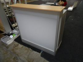 Modified MOD-1525 Backlit Counter with Locking Storage and Shelf -- Image 1