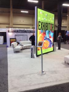 12' High x 8' Wide Double-Sided Tower with LED Backlit SEG Fabric Graphics -- Image 3