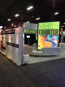 12' High x 8' Wide Double-Sided Tower with LED Backlit SEG Fabric Graphics -- Image 4