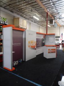 Custom SEGUE Exhibit with Backlit Fabric Graphics and Custom Counter -- Image 1