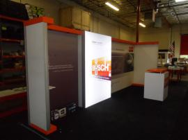 Custom SEGUE Exhibit with Backlit Fabric Graphics and Custom Counter -- Image 2