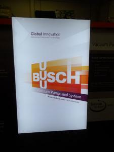 Custom SEGUE Exhibit with Backlit Fabric Graphics and Custom Counter -- Image 3