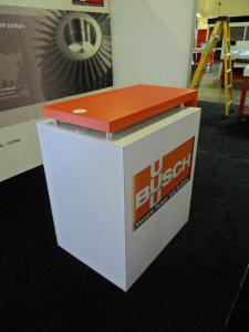 Custom SEGUE Exhibit with Backlit Fabric Graphics and Custom Counter -- Image 4
