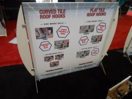 Custom Size SEGUE Table Top Display with Silicone Edge Graphics -- Image 1