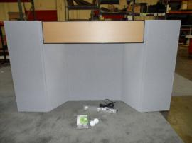 FT-06 Intro Folding Table Top Display with Backlit Header -- Image 1