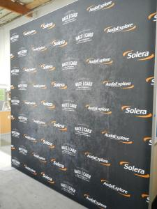 RENTAL:  8 x 10 Exhibit with SEG Fabric Graphic, and RE-1234 Double-Sided Lightbox -- Image 2