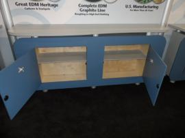 VK-2065 Modular Laminate Hybrid with (3) Backwall Counters and (2) Reception Counters with Locking Storage -- Image 2
