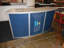 MOD-1185 Modular Reception Counter with Locking Storage -- Image 1