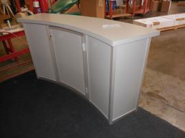 MOD-1185 Modular Reception Counter with Locking Storage -- Image 2