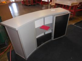 MOD-1185 Modular Reception Counter with Locking Storage -- Image 3