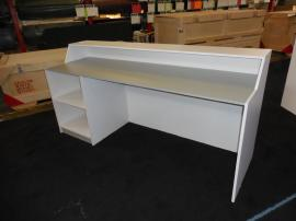 (2) Custom Wood Counters with Shelving and Storage -- Image 1